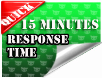 Quick 15 minute response time